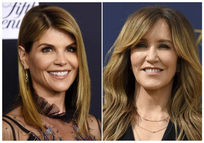 This multiple print shows singer Lori Loughlin during a Women's Cancer Research Fund's An Unforgettable Evening eventuality in Beverly Hills, Calif., on Feb. 27, 2018, left, and singer Felicity Huffman during a 70th Primetime Emmy Awards in Los Angeles on Sept. 17, 2018. Loughlin and Huffman are among during slightest 40 people indicted in a unconditional college admissions temptation scandal. Both were charged with swindling to dedicate mail rascal and handle rascal in indictments unblocked Tuesday in sovereign justice in Boston. (AP Photo)