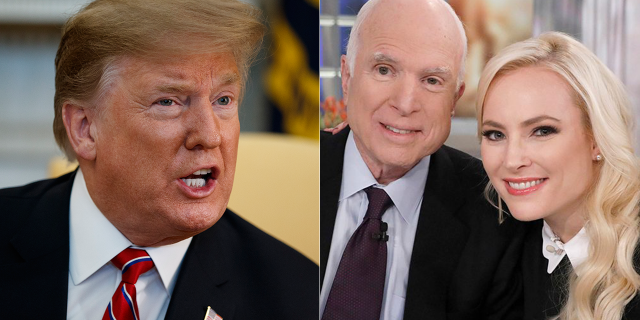 President Trump has feuded with both Sen. John McCain, who died final year, and with his daughter Meghan McCain.