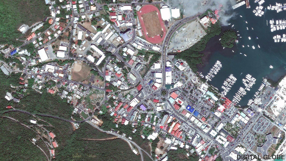 Satellite picture of Road Town, Tortola in Mar 2017