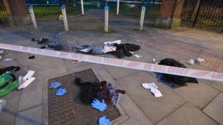Scene where 3 teenagers were stabbed in Mile End