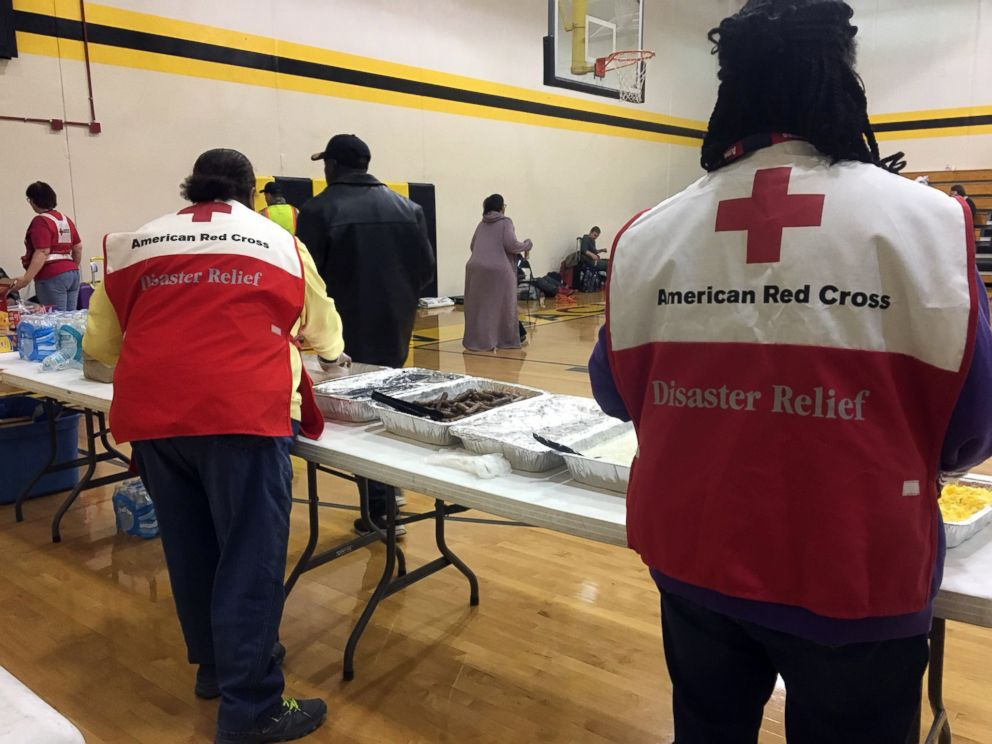 PHOTO: An picture expelled by a American Red Cross shows volunteers portion breakfast to survivors of a deadly sight pile-up nearby Cayce, S.C., Feb. 4, 2018.