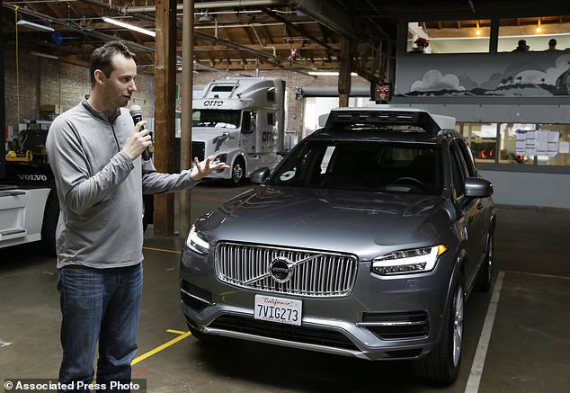 FILE - In this print taken Tuesday, Dec. 13, 2016, record photo, Anthony Levandowski, then-head of Uber's self-driving program, speaks about their driverless automobile in San Francisco. A Google-bred colonize in self-driving cars will hit with Uber's beleaguered ride-hailing use in a courtroom showdown Monday, Feb. 4, 2018, revolving around allegations of deceit, betrayal, espionage and a high-tech heist that tore detached one-time allies. (AP Photo/Eric Risberg, File)