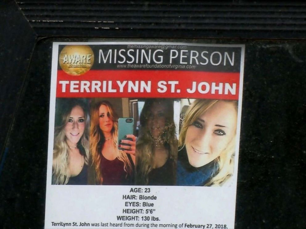 PHOTO: TerriLynn St. John, 23, was reported blank when she didnt uncover adult for work, according to officials.