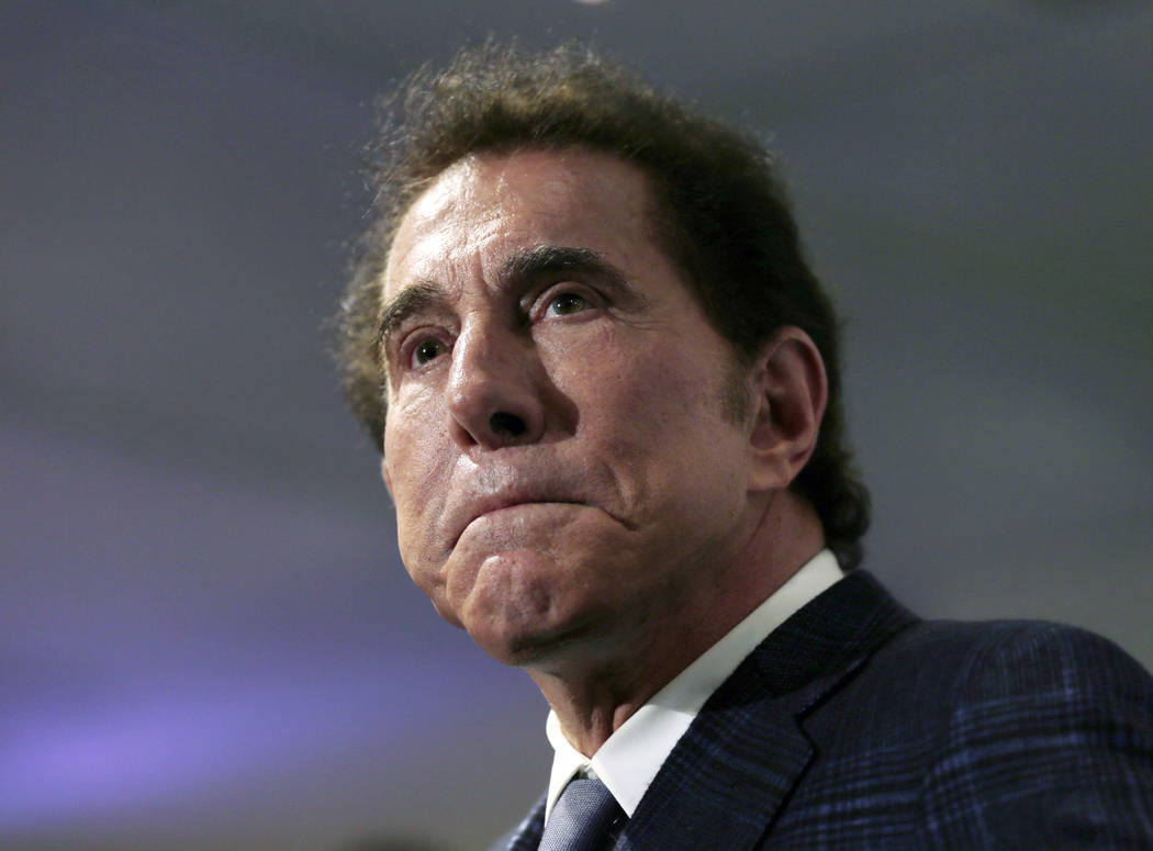 Casino noble Steve Wynn is seen during a news discussion in Medford, Mass., in 2016.   (AP Photo/Charles Krupa, File)