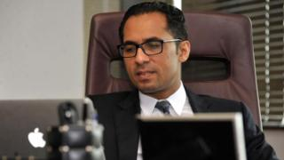 A record design taken on Apr 23, 2015, shows Tanzanian businessman Mohammed Dewji during his bureau in Dar es Salaam