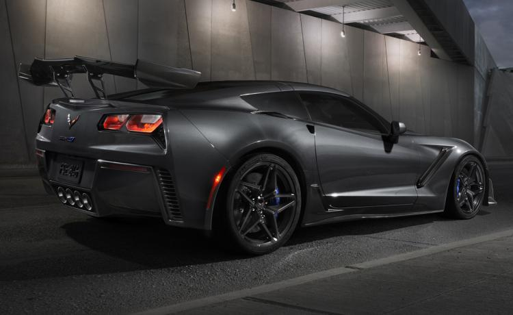 2019 Chevrolet Corvette ZR1 Gray Rear Quarter