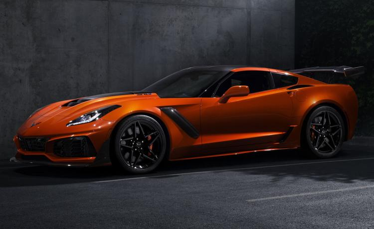 2019 Chevrolet Corvette ZR1 Sebring Orange Front Quarter