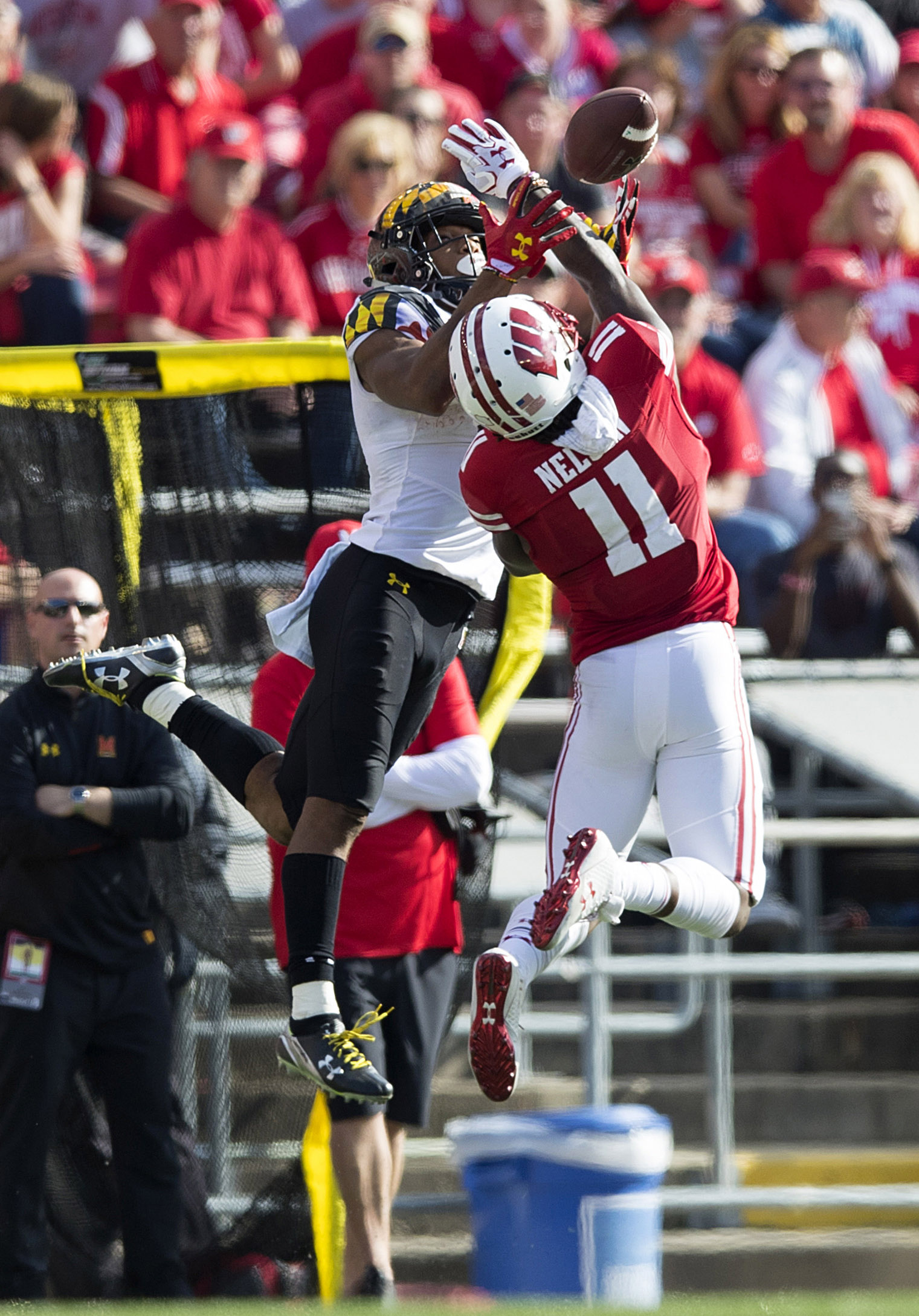 NCAA Football: Maryland during Wisconsin