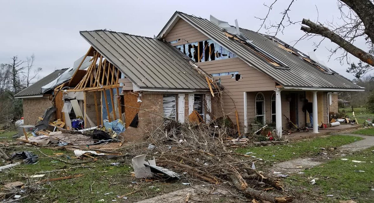 The Leon County Sheriff's Office in Florida pronounced 5 homes in a Baum village were shop-worn by a whirly on Sunday, Mar 3, 2019. (Leon County Sheriff's Office)