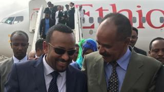 Abiy Ahmed and Isaias Afewerki