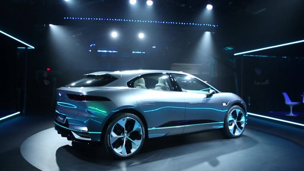 Jaguar unveils initial electric car