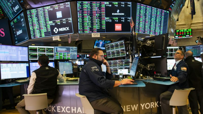 NEW YORK, NY - FEBRUARY 04: Traders work on a building of a New York Stock Exchange (NYSE) on on Feb 4, 2020 in New York City. The markets rebounded after a tumble final week on coronavirus fears. (Photo by Eduardo Munoz Alvarez/Getty Images)