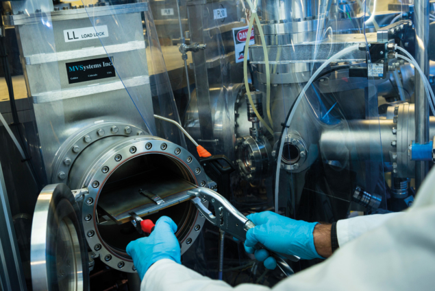 Photo of solar-cell research