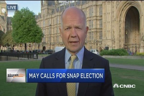 William Hague: UK will be stronger in Brexit negotiations with a mandate