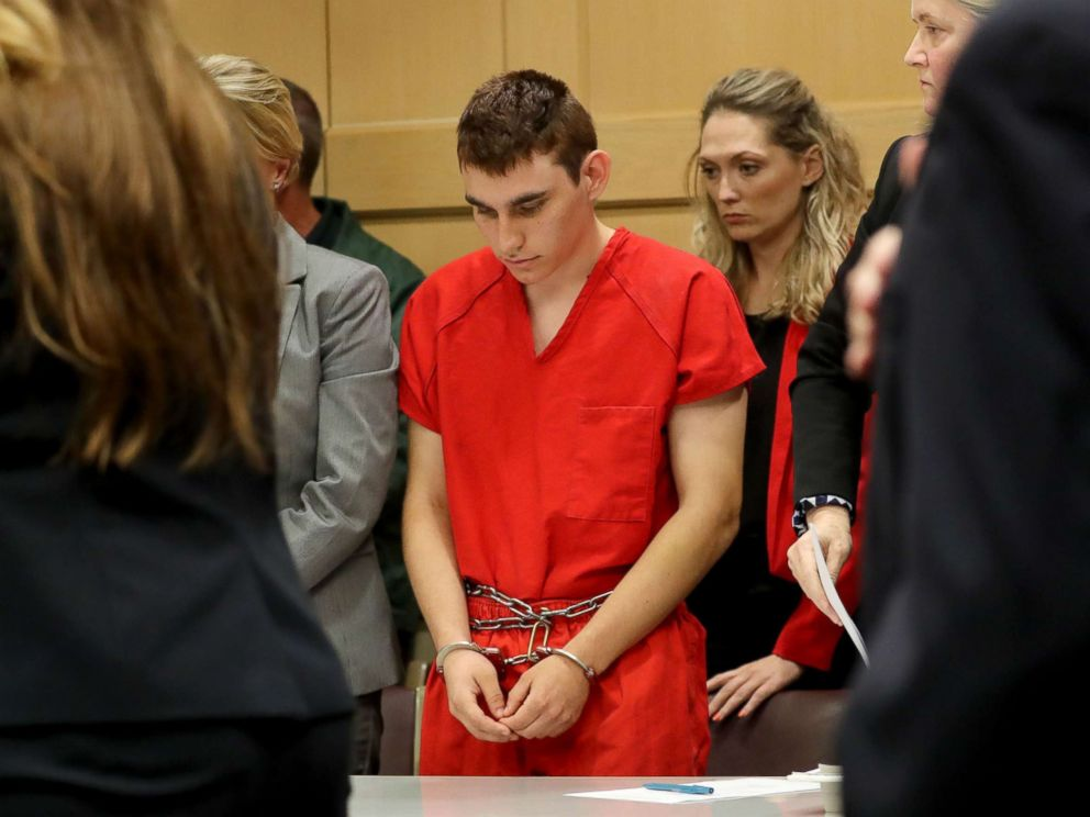 PHOTO: Nikolas Cruz appears in justice for a standing conference before Broward Circuit Judge Elizabeth Scherer in Fort Lauderdale, Florida, Feb. 19, 2018.