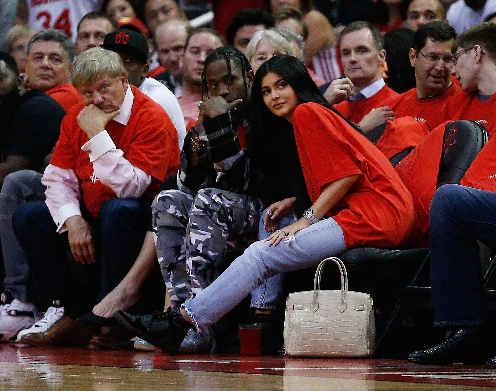 Travis Scott and Kylie Jenner in Apr 2017