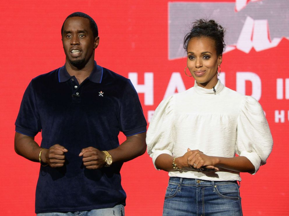 PHOTO: Sean Diddy Combs and Kerry Washington attend Hand in Hand: A Benefit for Hurricane Relief during Universal Studios AMC on Sept. 12, 2017 in Universal City, Calif.