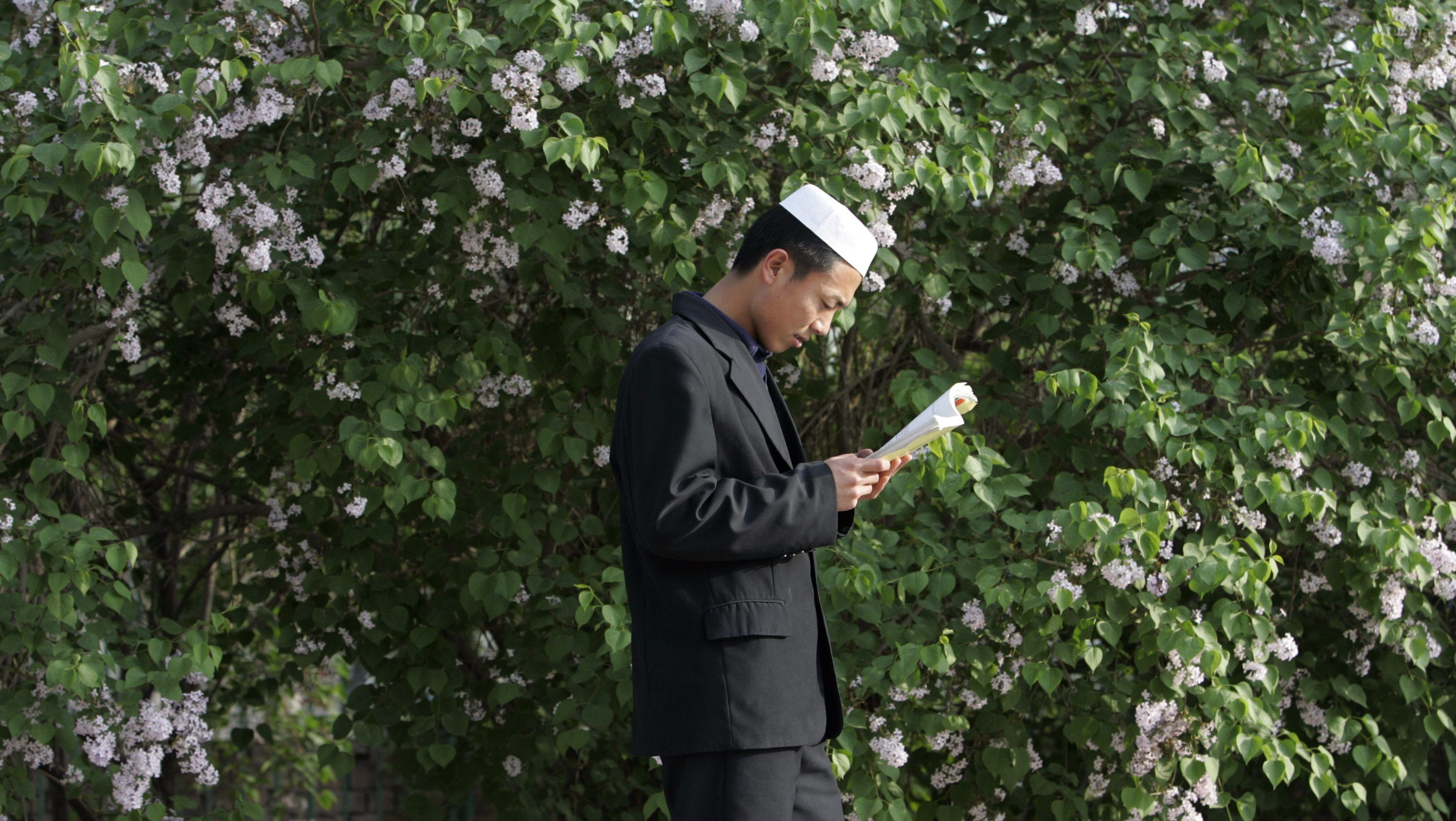 A Muslim tyro from a Chinese Hui minority studies during Ningxia Islamic College in Yinchuan, collateral of northwest China's Ningxia Hui Autonomous Region, Apr 23,2007. According to propagandize and internal sources, some-more than 300 students, including 82 girls, learn culture, Arabic language, Islam and story during a college, that was founded in 1989.