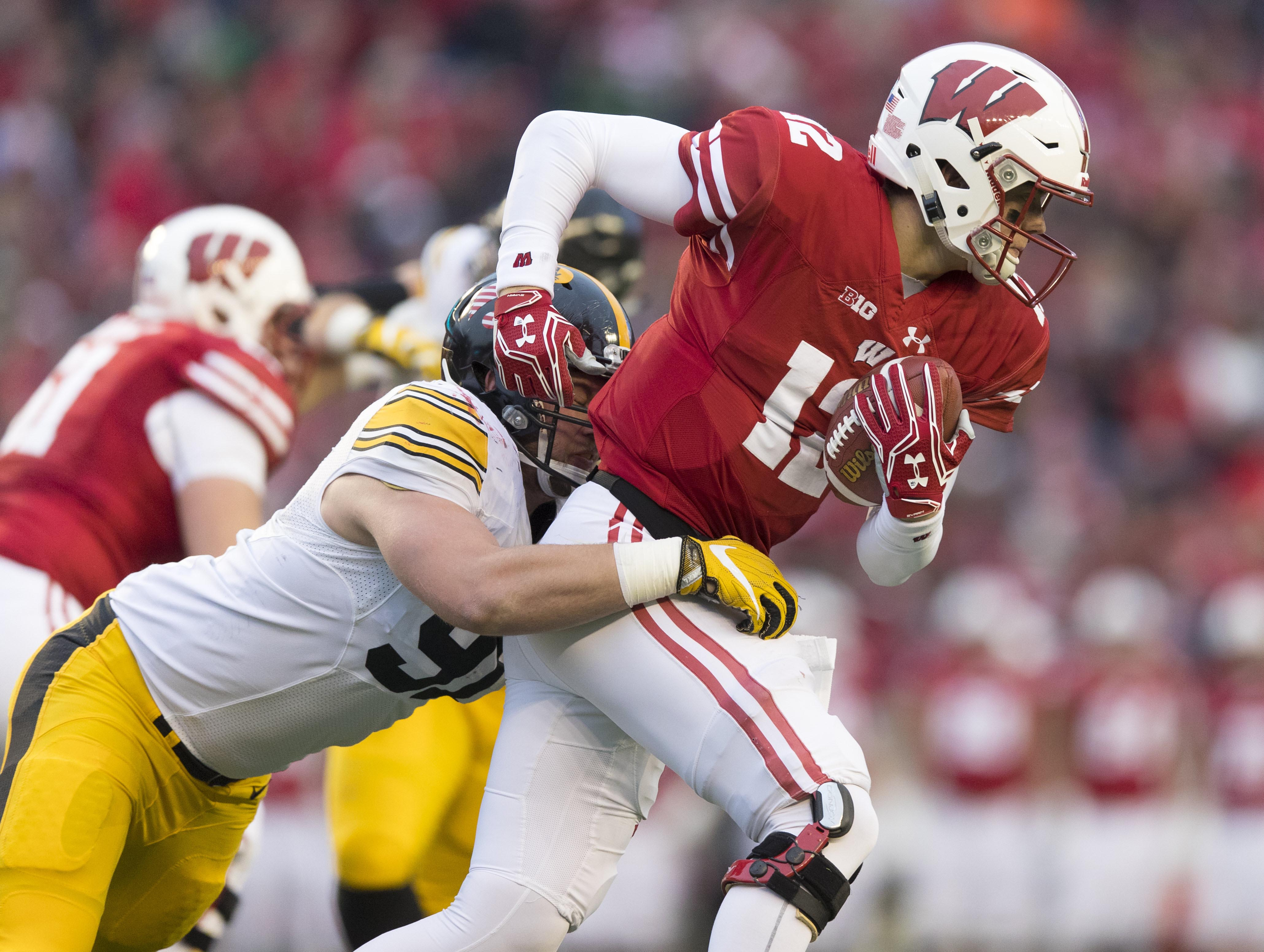 NCAA Football: Iowa during Wisconsin