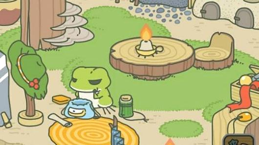 A screenshot of Tabikaeru: Journey Frog, a mobile diversion combined by Japanese developer Hit-Point.