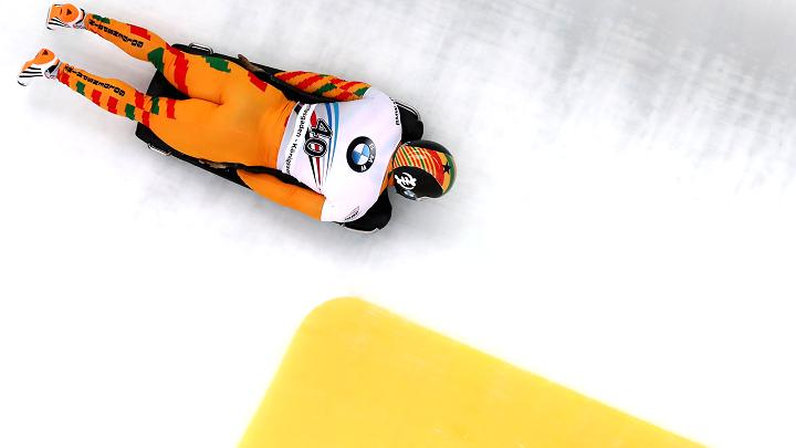 Akwasi Frimpong of Ghana competes during a International Bobsleigh and Skeleton Federation World Championships on Feb 24, 2017, in Koenigssee, Germany.