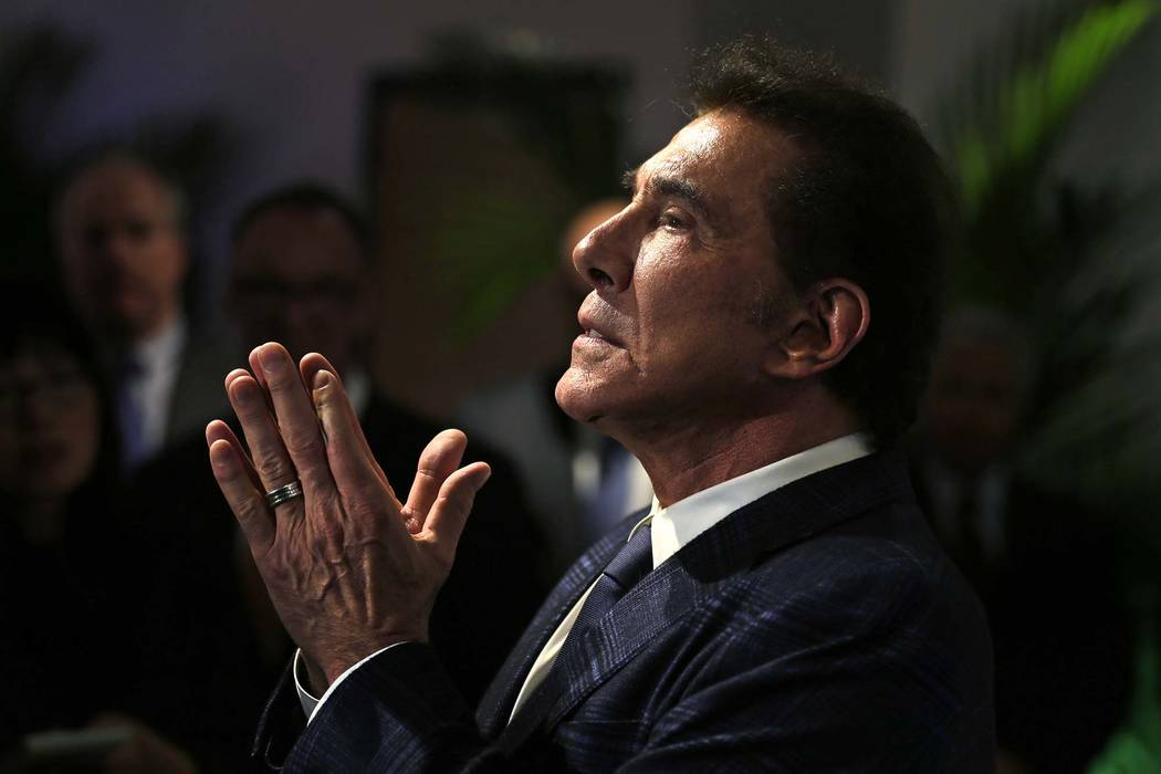 Casino noble Steve Wynn is seen during a news discussion in Medford, Mass., in 2016. (Charles Krupa/AP, File)