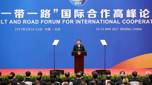 China President Xi Jinping attends a news discussion during a Belt and Road Forum for International Cooperation on May 15, 2017 in Beijing, China.