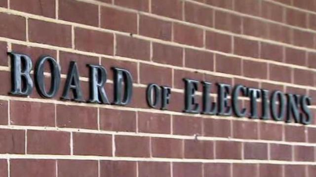 State Board of Elections sign