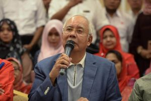 Ousted Malaysian primary apportion Najib Razak speaks during a news discussion in Kuala Lumpur, Malaysia, on May 12, 2018.