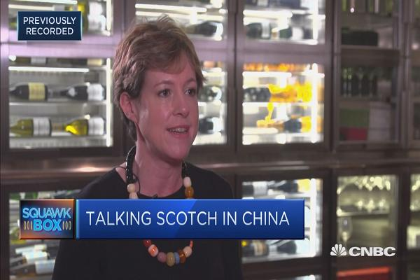 China is a aim marketplace for Scotch Whisky