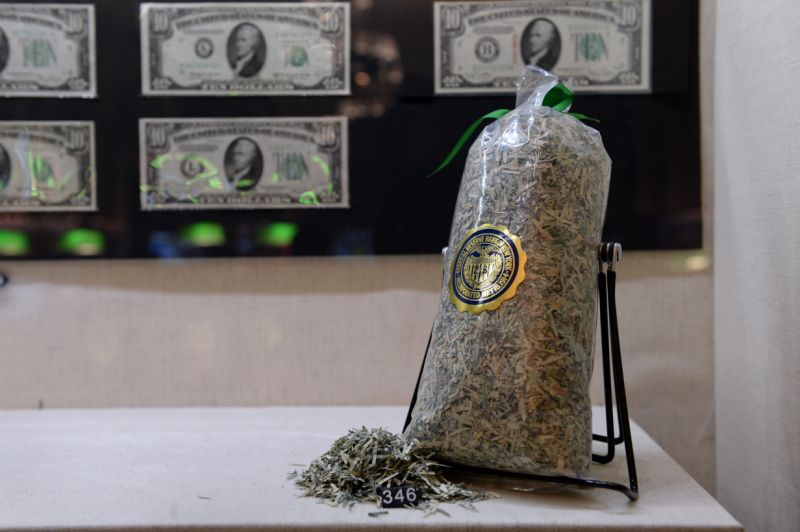A bag of shredded US banking (R) on arrangement in a muster 'The Fed during 100' during a Museum of American Finance Dec 17, 2013 in New York. These USD bills have been private from dissemination and shredded into confetti. In a credentials are USD $10 bills from any of a 12 district banks of a Federal Reserve System. The muster outlines a 100th anniversary of a Federal Reserve System. The Fed was combined on Dec 23, 1913, with a dramatization of a Federal Reserve Act, mostly in response to a array of financial panics, quite a serious panic in 1907. Over time, a roles and responsibilities of a Federal Reserve System have stretched and a structure has evolved. Events such as a Great Depression were vital factors heading to changes in a system. AFP PHOTO/Stan HONDA (Photo credit should review STAN HONDA/AFP/Getty Images)