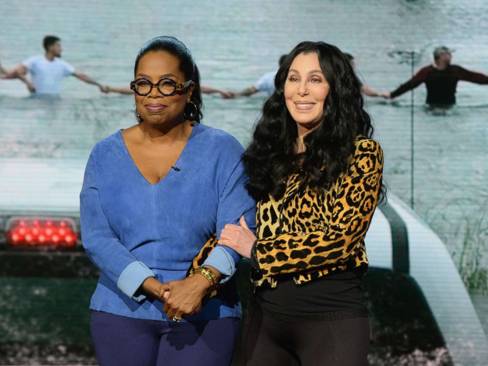 PHOTO: Oprah Winfrey and Cher attend Hand in Hand: A Benefit for Hurricane Relief during Universal Studios AMC on Sept. 12, 2017 in Universal City, Calif.