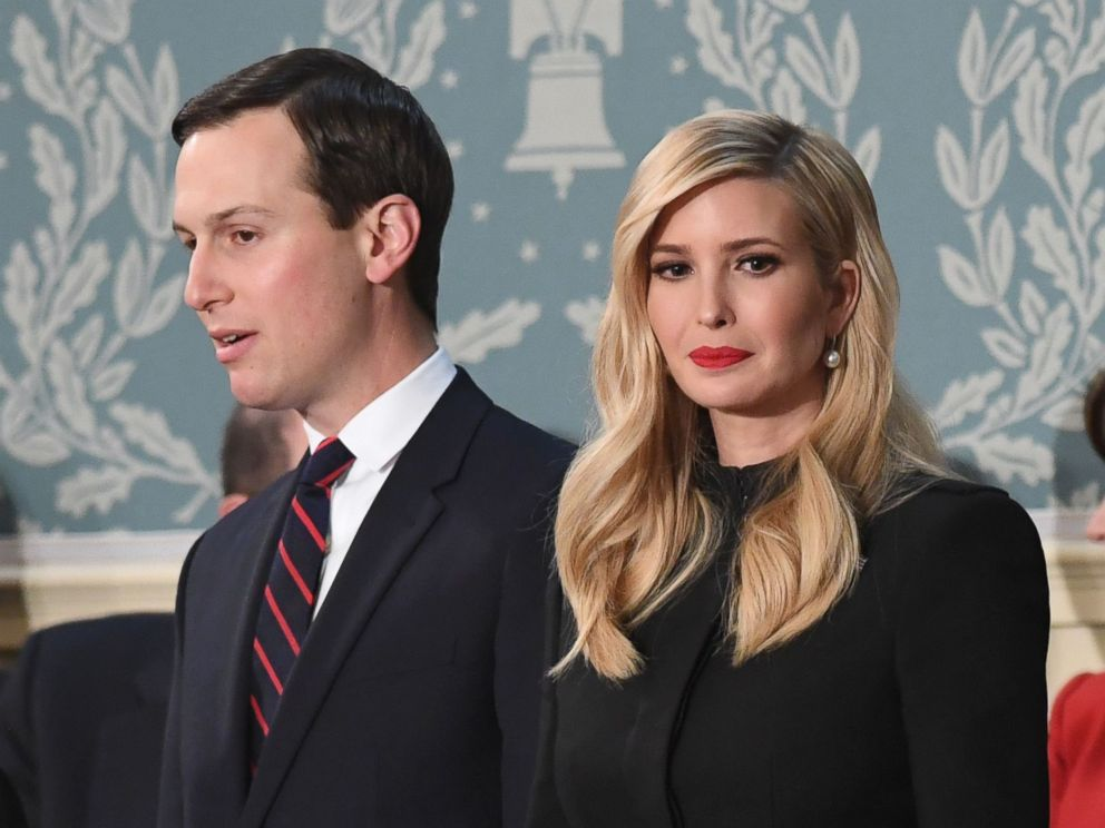 PHOTO: Ivanka Trump and father Jared Kushner arrive to a State of a Union residence during a U.S. Capitol in Washington, Feb. 5, 2019.