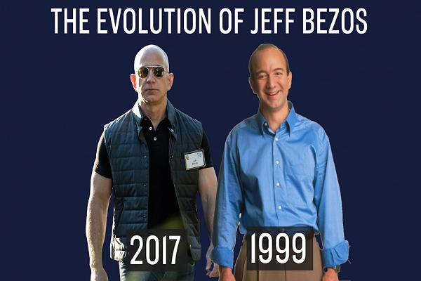 The enlargement of Jeff Bezos: See if we can commend him by a years