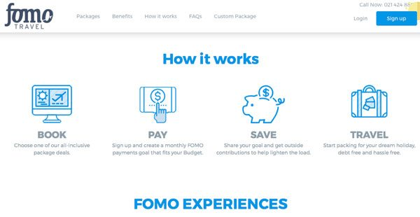 fomotravel startups installment plans