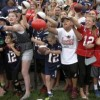Crowds keep removing bigger during Patriots practices