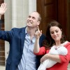 Duchess Kate and Prince William benefaction their baby baby to a public