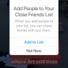 Instagram now lets we share Stories to a Close Friends list