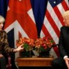 Trump hits out during UK PM Theresa May after far-right video tweets