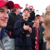 Trump tweeted in support of a students concerned in Native American protester fight during Lincoln Memorial