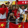China not during World Cup, though they're still crazy for it