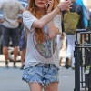Lindsay Lohan sports painful-looking cuts and bruises on her legs as she stairs …